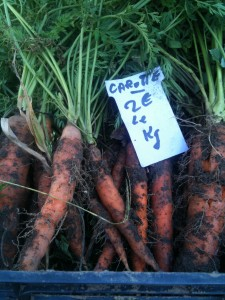 Earthy carrots - now that is fresh!