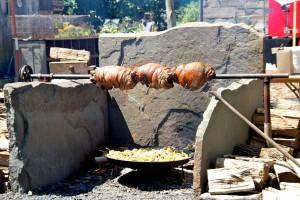 Ian Knauer's spit roasting